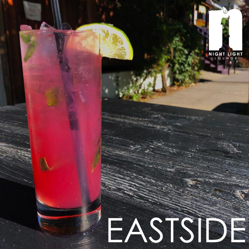 EASTSIDE  PDX Potato Vodka, hibiscus - raspberry tea,mint, lemongrass, lime juice, soda,served on the rocks