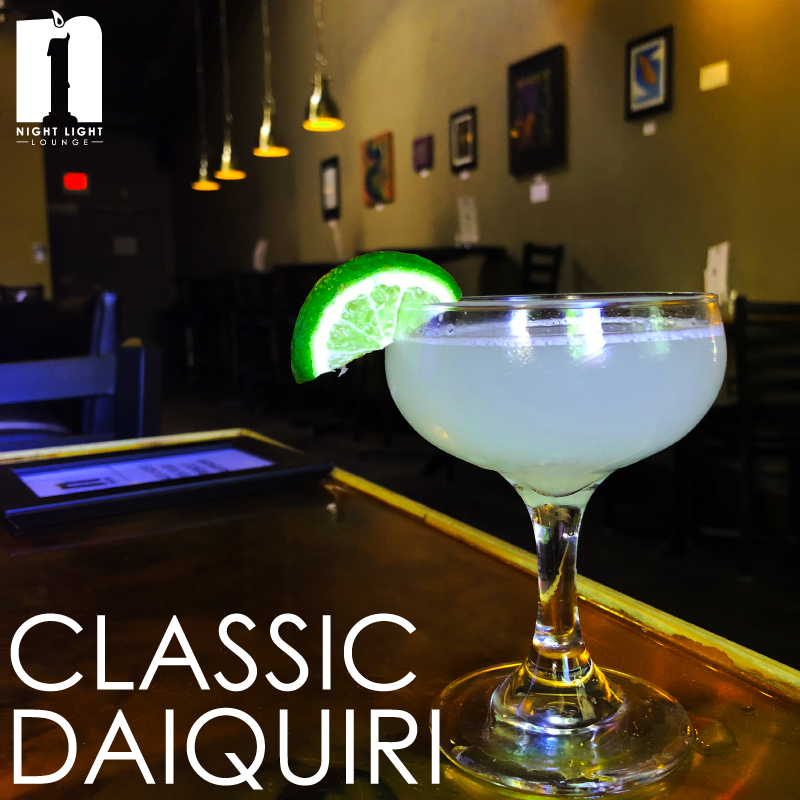 Classic Daiquiri   Don Q Cristal rum, lime juice, simple, served up