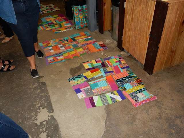 A few groups of finished blocks - these will make some amazing quilts!