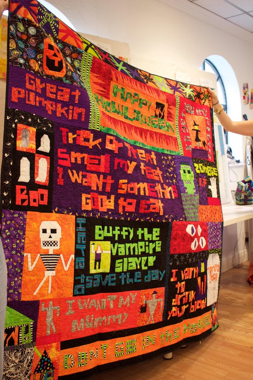 Tonya Ricucci, Halloween improv quilt