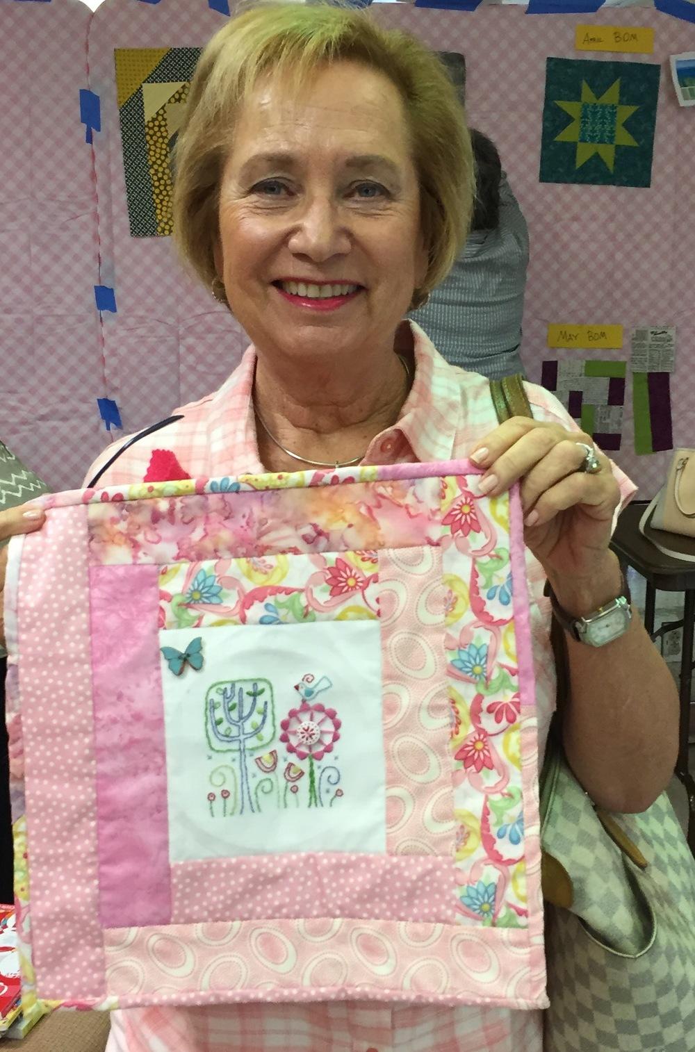 Red Thread Embroidery Challenge: Sheila Gordon