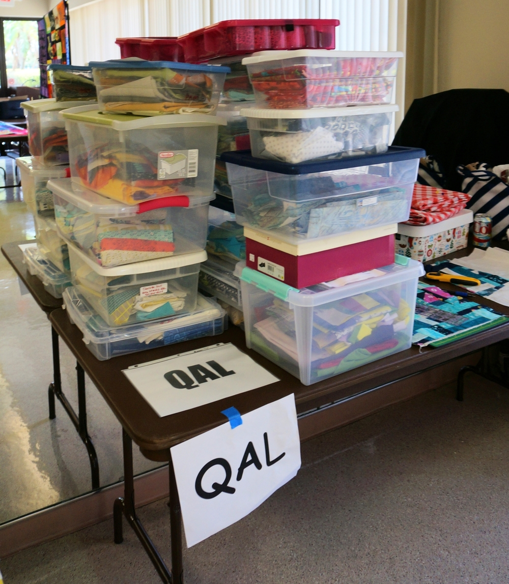 QAL boxes stacked up and ready to swap!