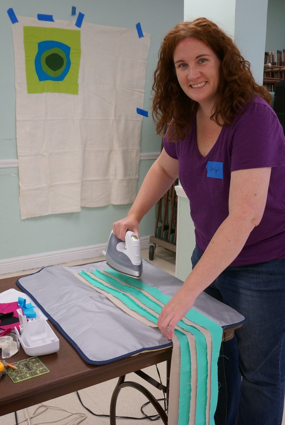 Kerrilyn  O'Rourke  making stripes