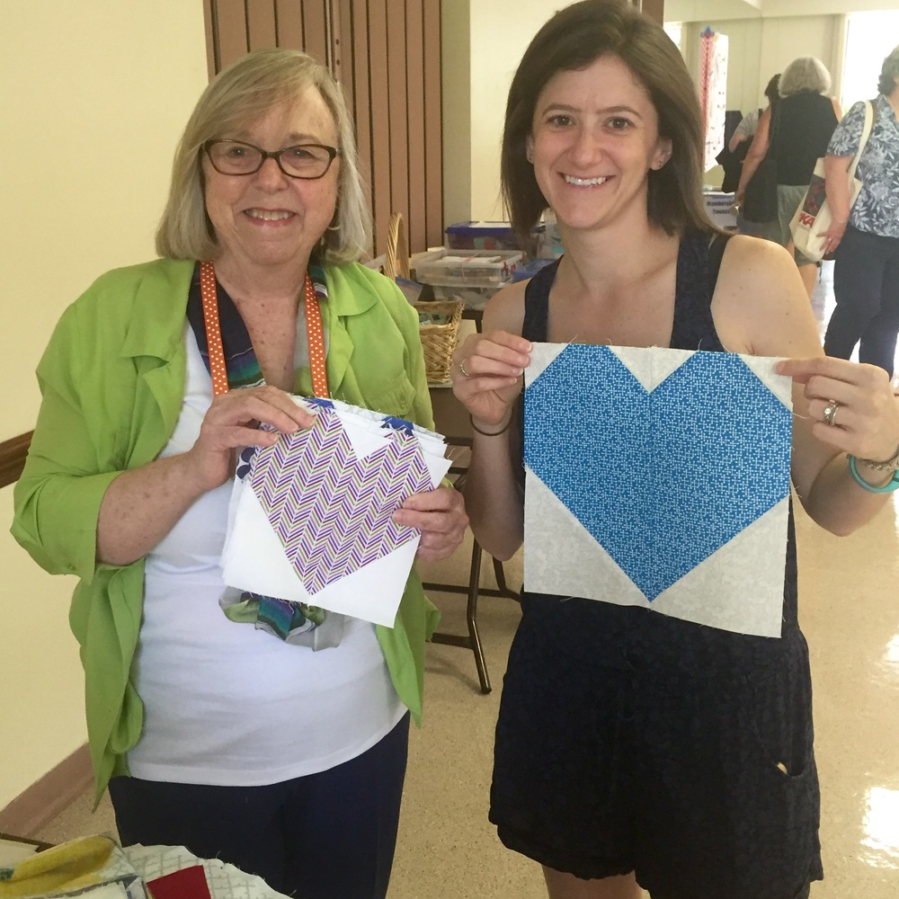 Members Linda Gordon and Alyson Christianson are sewing up love for Orlando!