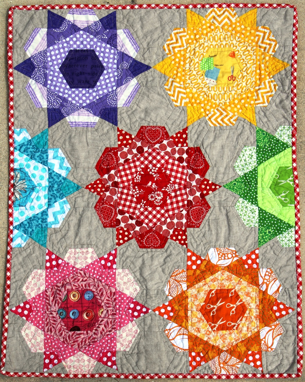 Rose Star EPP quilt (Ivy Bagnall)