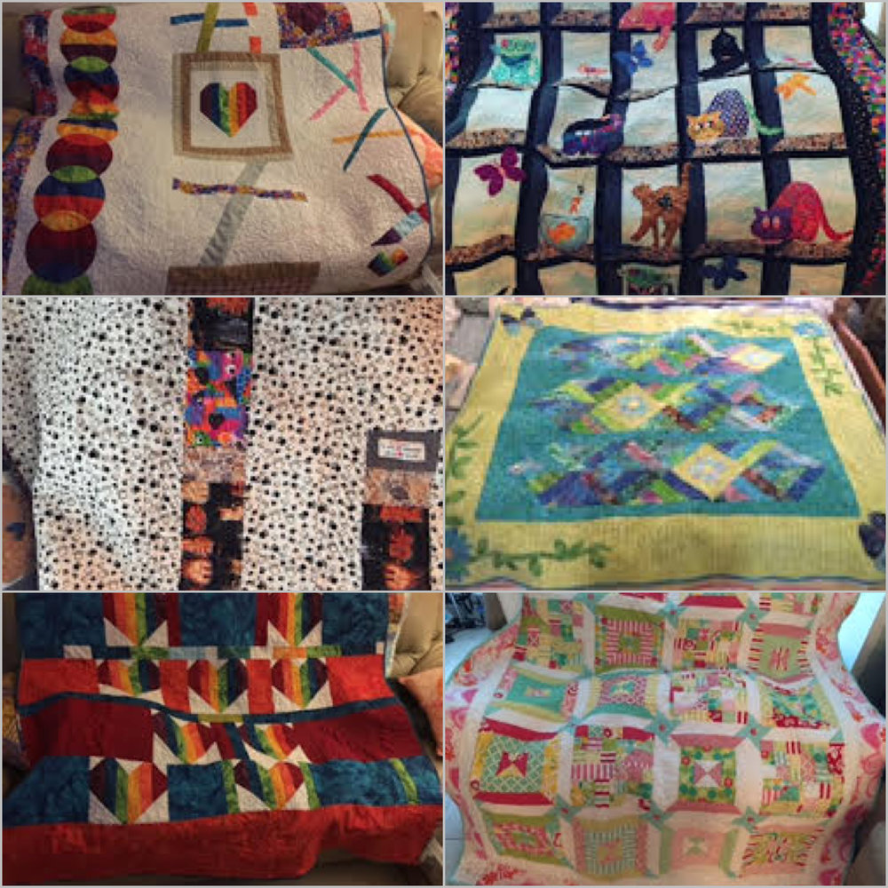Some of Jean's lovely quilts.