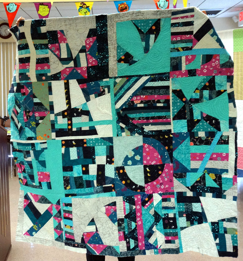 Patti's finished quilt top.