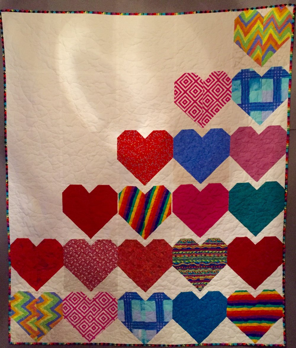 Pieced by Charlotte Noll, quilted by Deb Krajkowski