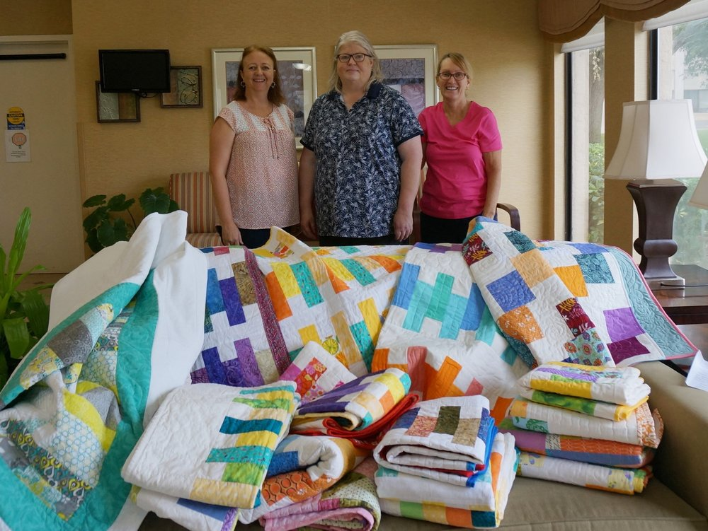 Delivery of our finished quilts