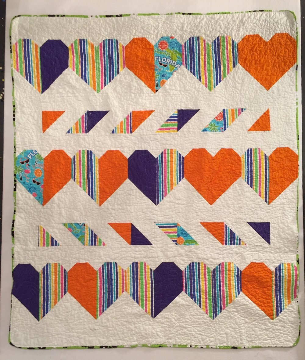 Pieced by Abbie Bill, quilted by Patti Auten.