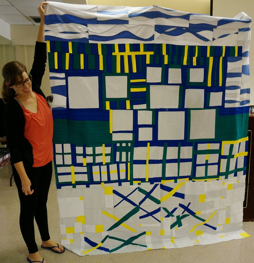 Quiltcon 2017 Charity Quilt finished top