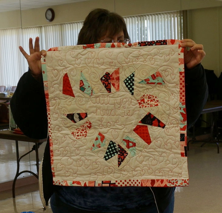 Patti Auten's mini quilt for our BQE fundraiser