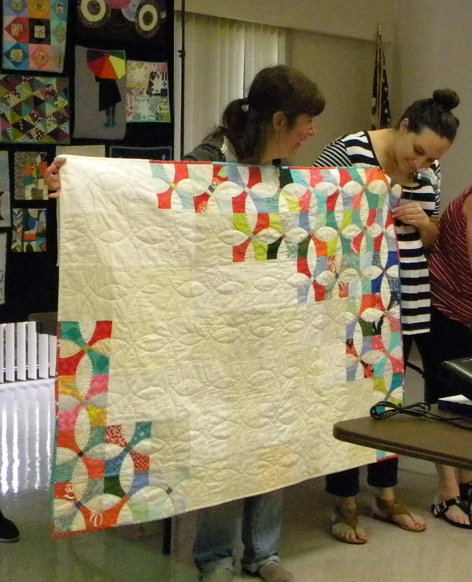 Ivy and her beautiful quilt.
