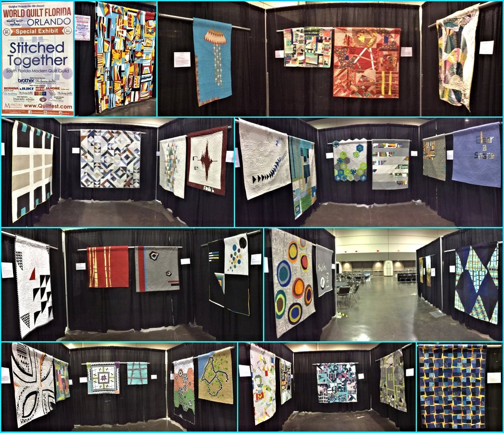 The amazing 2017 SFMQG Exhibit at Mancuso World Quilt Florida in Orlando!