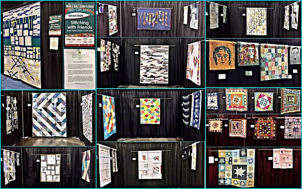 2018 SFMQG Stitching with Friends Exhibit at Mancuso World Quilt Florida in Orlando
