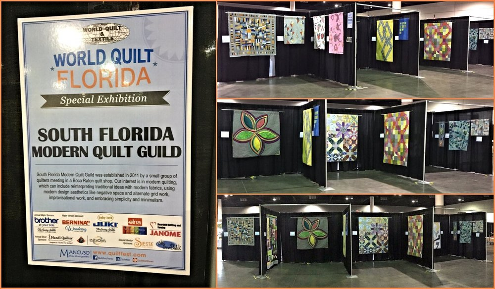 2016 SFMQG Exhibit at Mancuso World Quilt Florida in Orlando