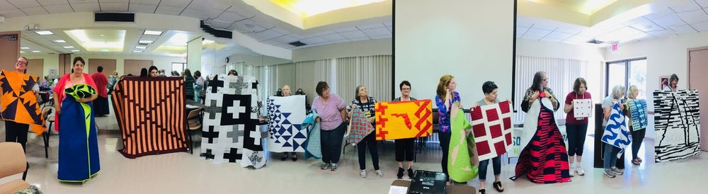 Sorry not all the quilts/members are in this picture.