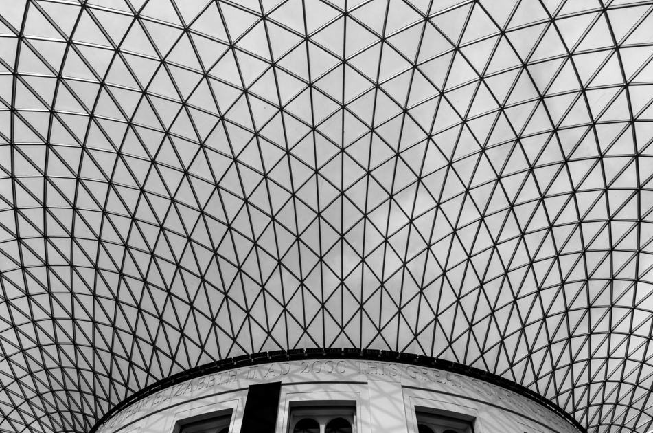 The British museum ceiling