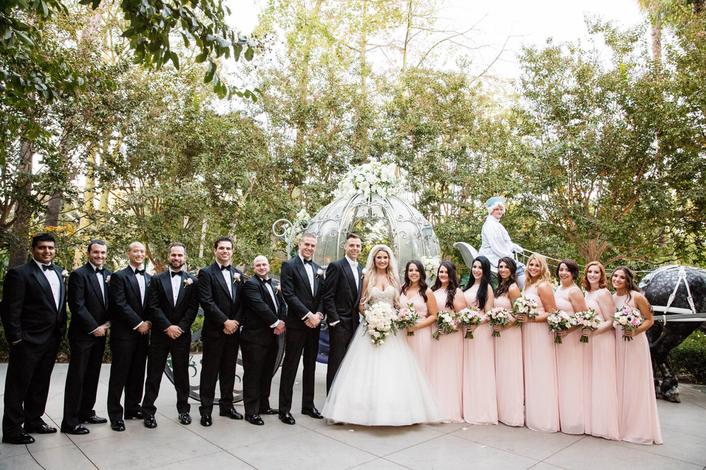 This Bride & Groom had a dream Disneyland Wedding. Their Disney Wedding was perfection from the bride's sparkly dress to her tiara to the look of pure love and joy on her face when she rode in the horse drawn carriage towards her groom. It was magical day! The wedding colors are white and pink with lots of disney magic. Coordinator:@janealexandraevents #janealexandraevents #orangecountyweddingvenue #weddingplanning #disneyweddings #disneyland #disneylandweddings