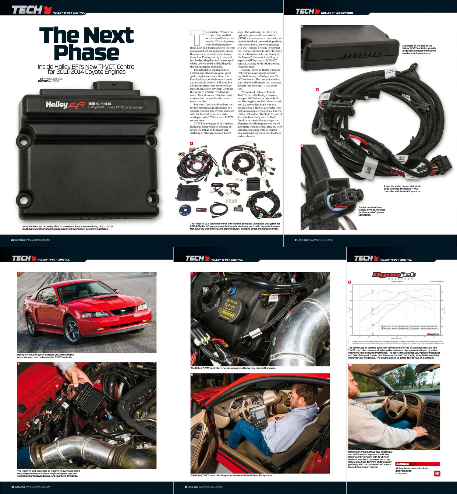 Holley Efi Ti Vct Technical Article Wes Duenkel Motorsport Photography Wiring Harness Published In The June 2018 Issue Of Muscle Mustangs And Fast Fords Magazine