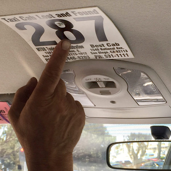 Get that Taxi Number and Avoid Lost Items in a Cab — Business Travel