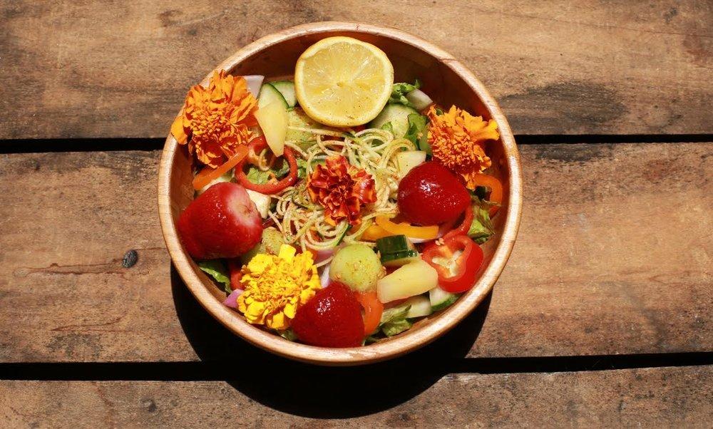 Eat  a variety of meals every day - (Rainbow salad)