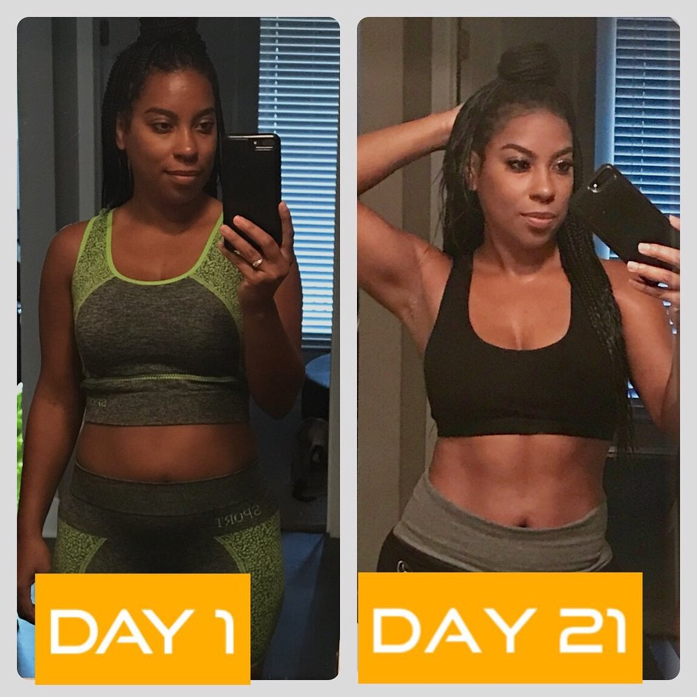 """Client Angela results on my #21waystoheal cleanse    """"by far one of the easiest cleanse I've done, although you will feel the regular symptoms of cleansing, you won't feel food deprive and after day 3 everything will get better"""" -Angel"""