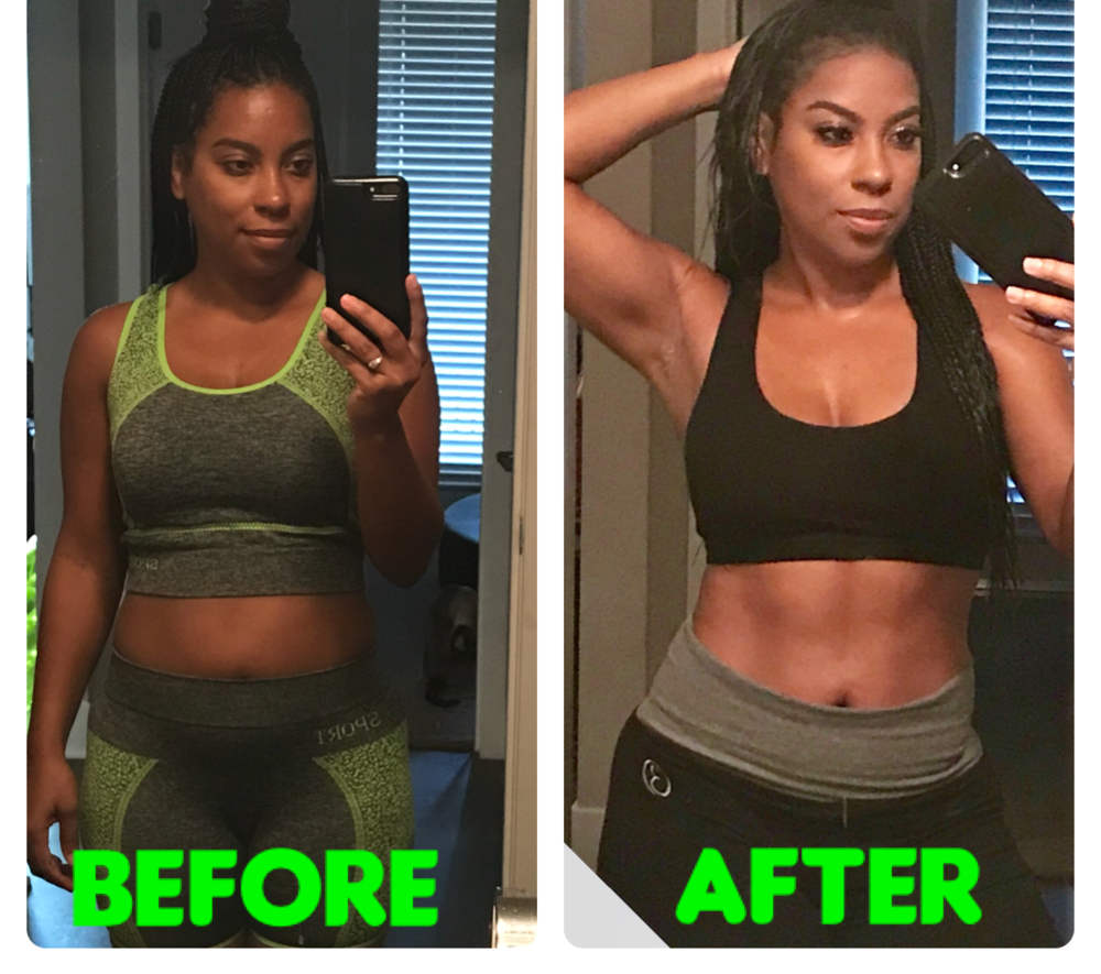 Testimonials: Results of my client Angela, in only 21 days! Angela was interested in weight loss, with a plan that didn't leave her feeling deprived and that taught her how to eat better.