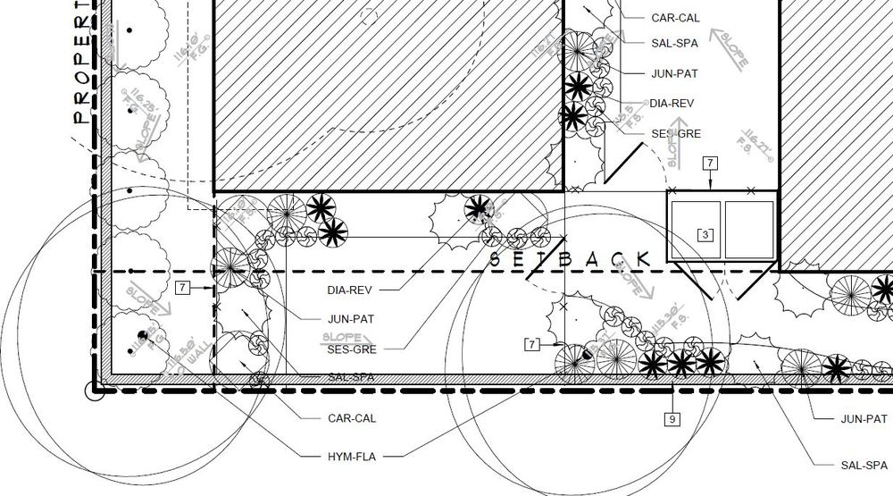 Landscape Construction Documents: Planting Plan, 1623 De La Vina, Santa Barbara CA