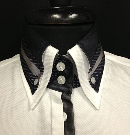 Double Collar Straight Stripes