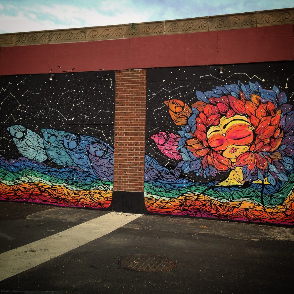 Mural painted for Wooden Walls Project , Asbury Park , NJ 2015