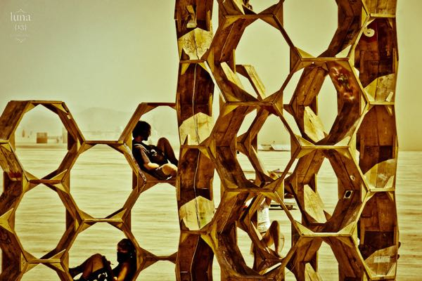 Honeycomb art at Burning Man 2010 by Kalie Cassel-Feiss of  luna13photography
