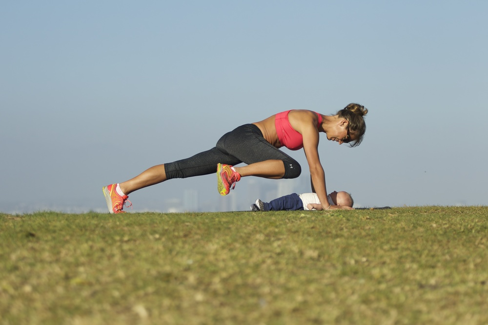 plank - baby and mommy workout