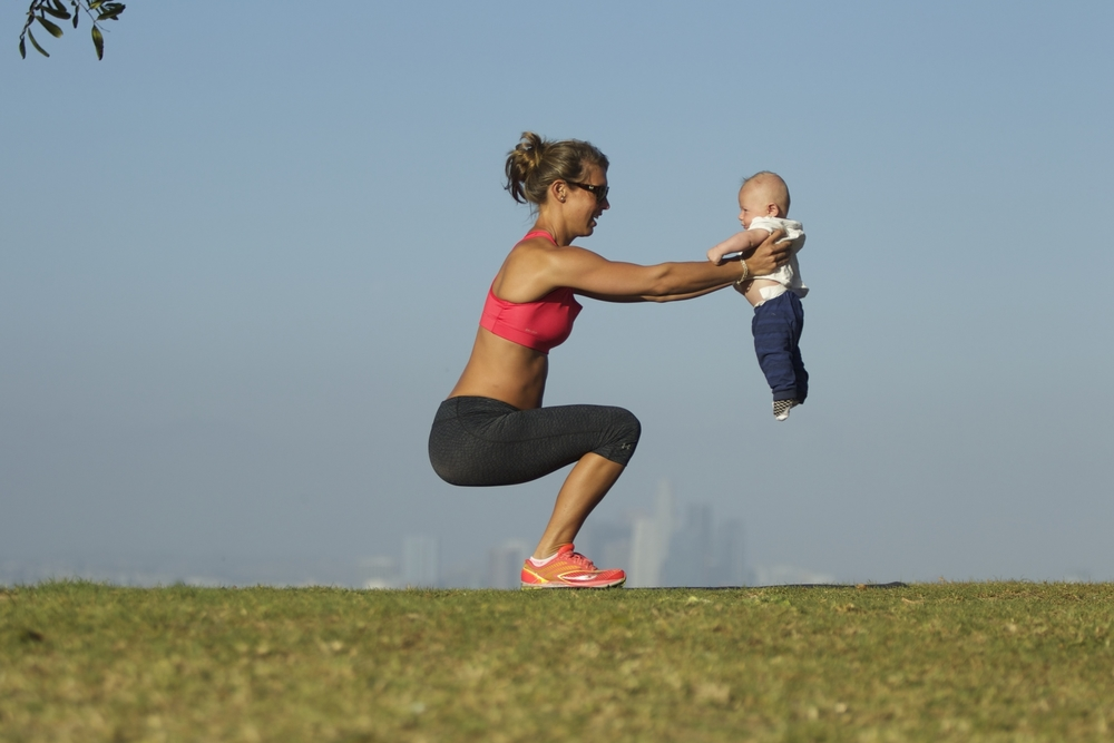 chair - baby and mommy workout