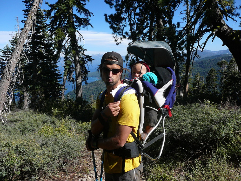 Choose a good back-pack so you don't need to put diapers under the straps...
