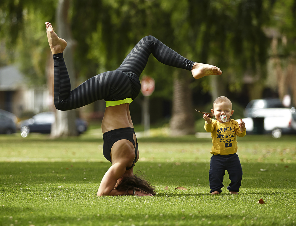 playtime in the park ~ mommy's workout!