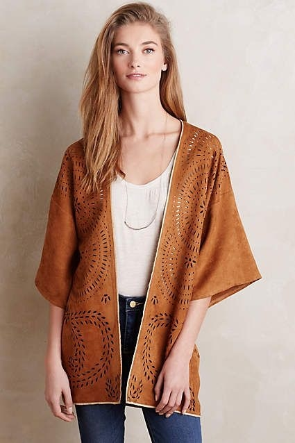 Vegan Suede Kimono from Anthropologie.com