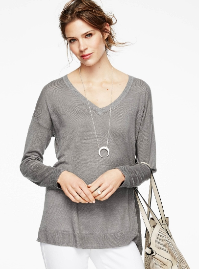 Linen V-Neck Sweater $59.00