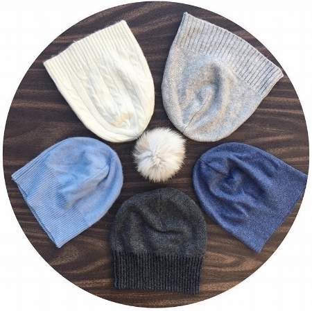 Winterluxe recycled cashmere hats handmade in Vancouver BC using 100% recycled cashmere.