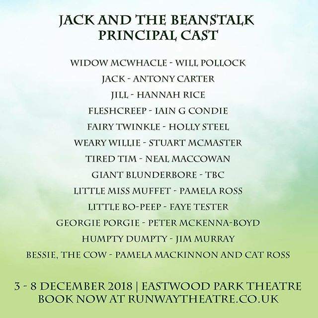 What a cast for #JackAndTheBeanstalk