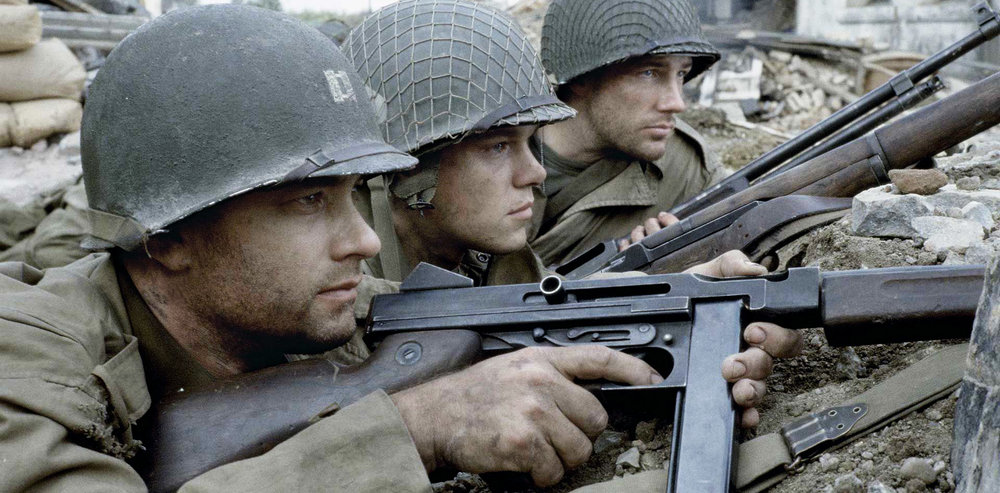 "Tom Hanks, Matt Damon & Ed Burns in ""Saving Private Ryan""   DreamWorks ,   Paramount Pictures"