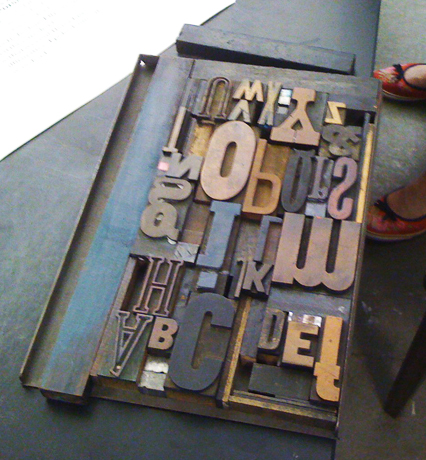 Letterpress Workshop, TypeCon, Atlanta