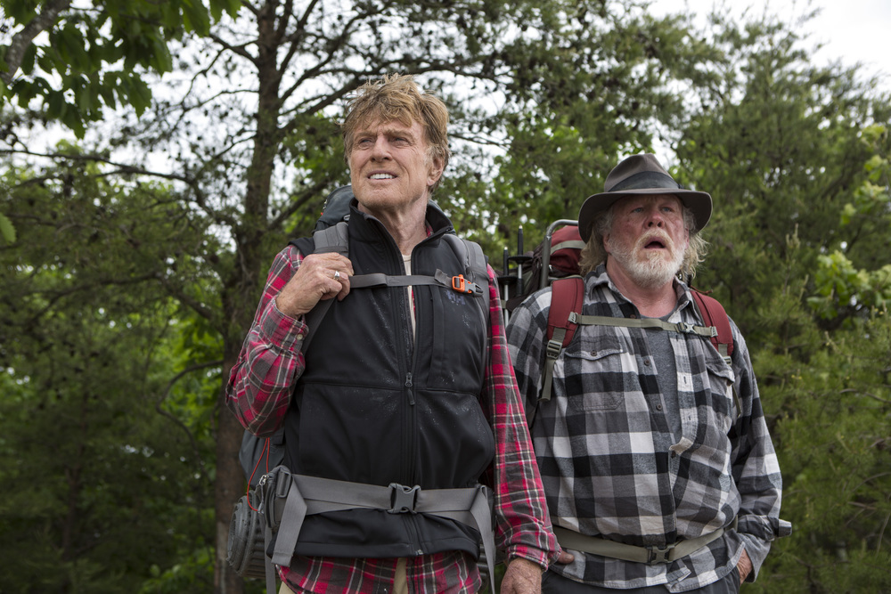A Walk In The Woods, starring Robert Redford, Nick Nolte, and Emma Thompson.
