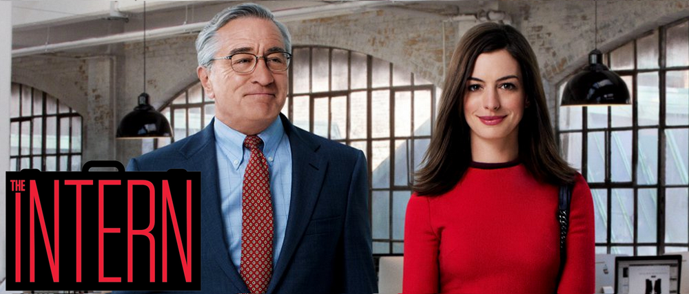 Robert De Niro and Anne Hathaway respectively star as a 70-year-old intern and a young boss.