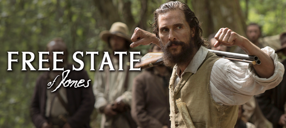 Rent Free State of Jones DVD and Blu-ray