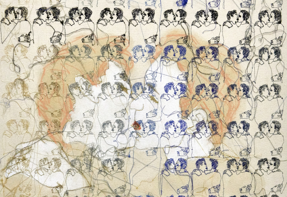 196 Men Kissing - detail
