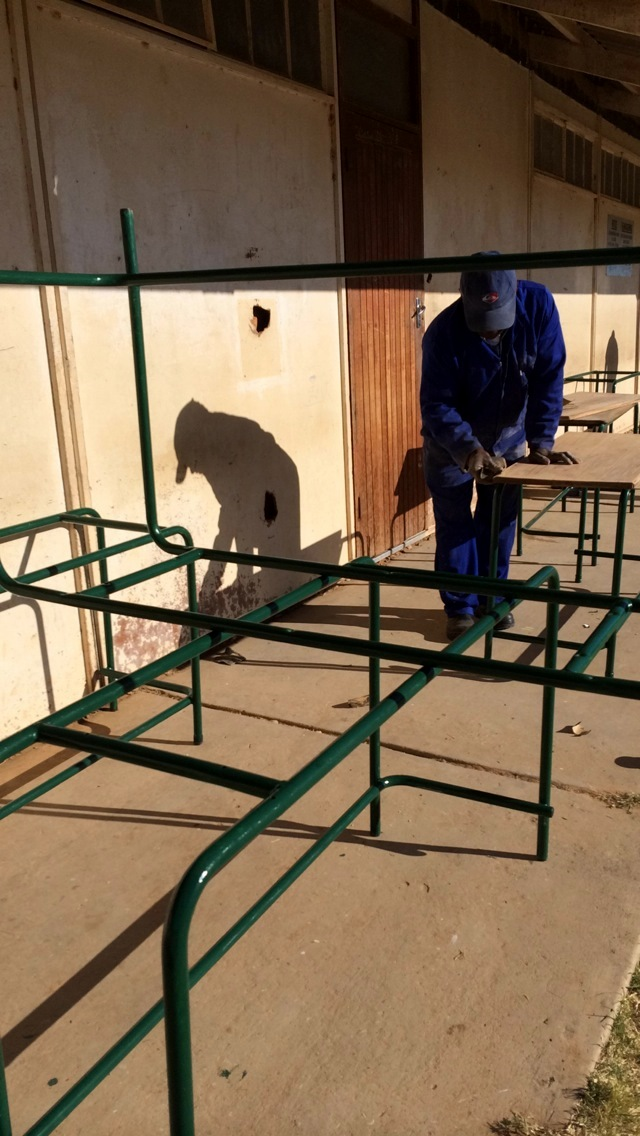 June 2014: Vusumzi Primary School classroom renovations continue
