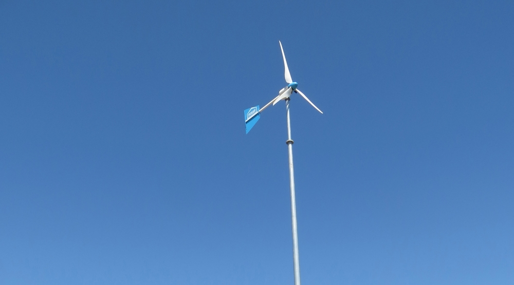 2012: Wind turbine installed