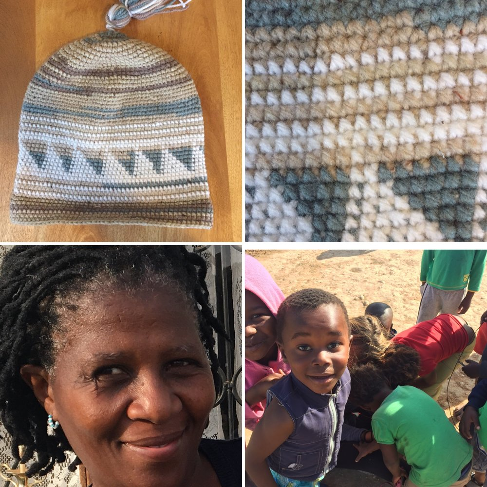 THE XHOSA HAT, NOMBULELO (A founding member of Ilizwe empowerment), AND THE CHILDREN WE SERVE