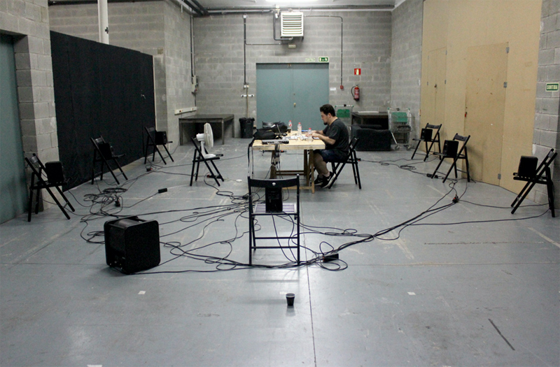Sound Spatialization study test @ Hangar Art Center